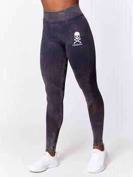 London Black Wash Network Legging, Black, large
