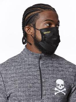 evolvetogether™  7- pack disposable black mask, Black, large