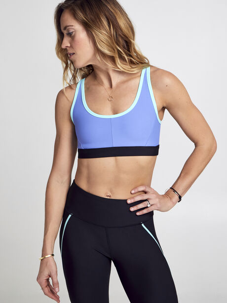 Turn It Up Sports Bra, Persian Blue/Nile Blue, large image number 0