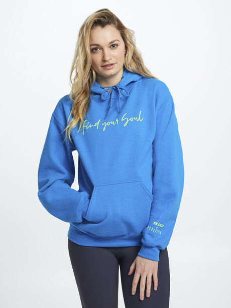 Find Your Soul Bright Blue Hoodie, Blue, large image number 0