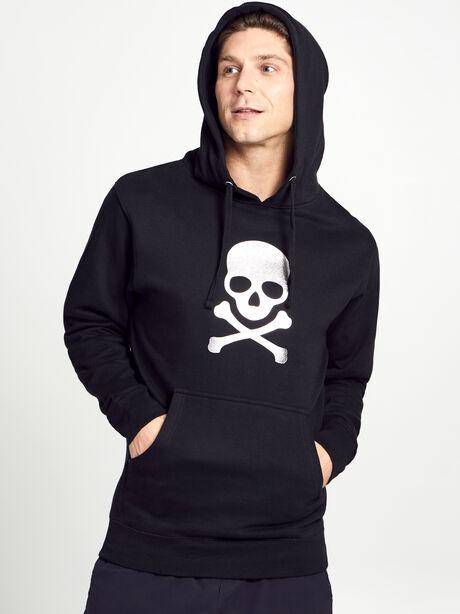 Gunmetal Skull Hoodie, Black, large image number 1