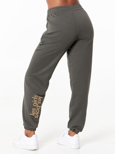 Loose Fit Track Pants Peat, Dark Olive, large image number 2