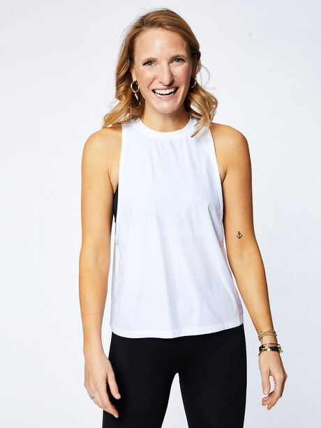 Lafayette Muscle Tank, White, large image number 0