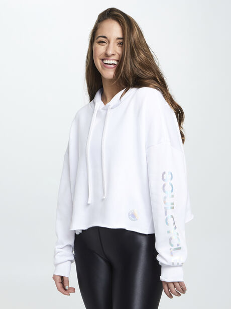 Frost Hoodie W/ Iridescent Foil, White, large image number 0