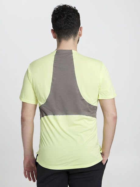 Fast And Free Short Sleeve, Heathered Solar Yellow/Carbon, large image number 2