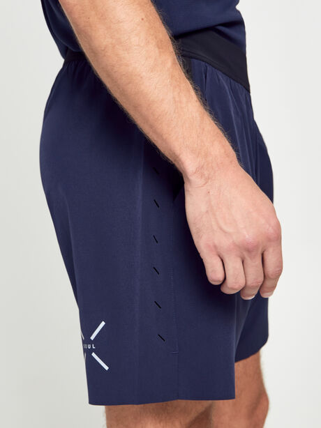"Lined Interval Shorts 7"", Black/Navy, large image number 3"