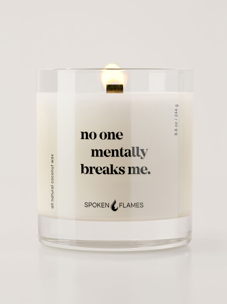No One Mentally Breaks Me Candle, Clear, large image number 1