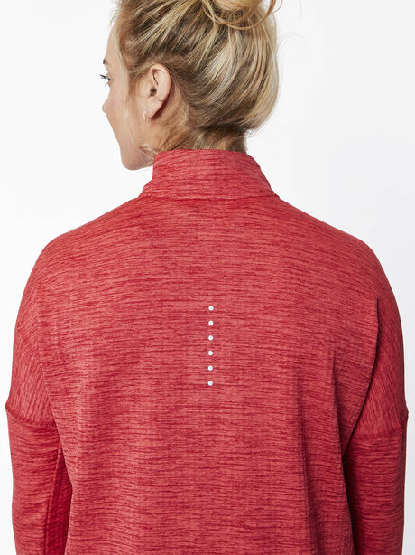 Therma Sphere Element Half Zip, Tough Red/Htr/Lt Fusion Red, large image number 3