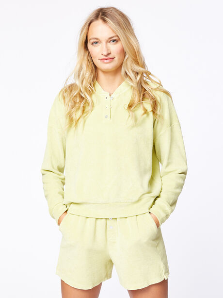 Terry Henley Sweatshirt Lime, Green, large image number 1