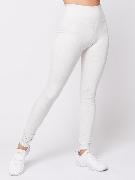 White Animal Legging, White, large image number 0