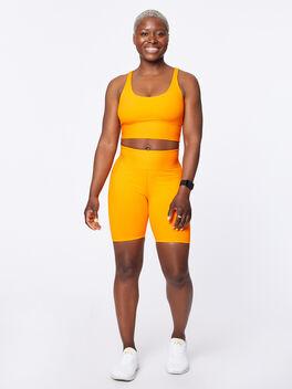 Ribbed Gym Bra Orange, Orange, large