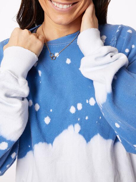 Acid Wash Vinca Pullover Blue, Blue, large image number 2