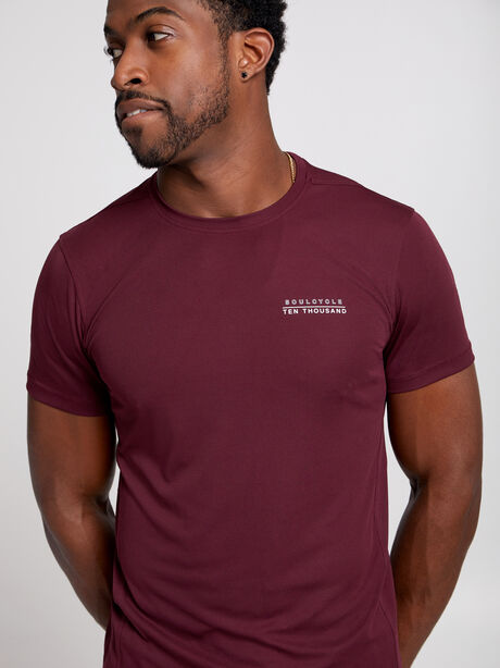 Distance Short-Sleeve Shirt, Maroon, large image number 0