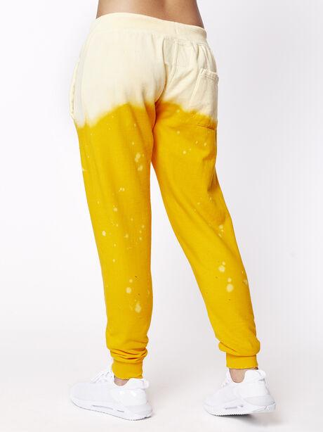 Acid Wash Sweatpant Sunrise, Yellow, large image number 2