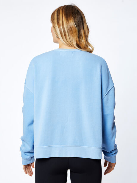 Lounge Sweatshirt, Blue Mineral Wash, large image number 2