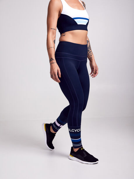 Colorblock Leggings, Navy, large image number 0