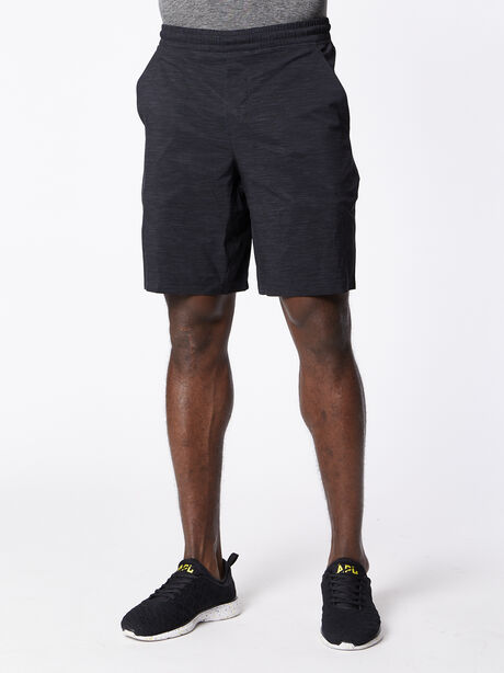 """Pace Breaker Short 9"""" lined, Heather Allover Deep Coal Blac, large image number 0"""