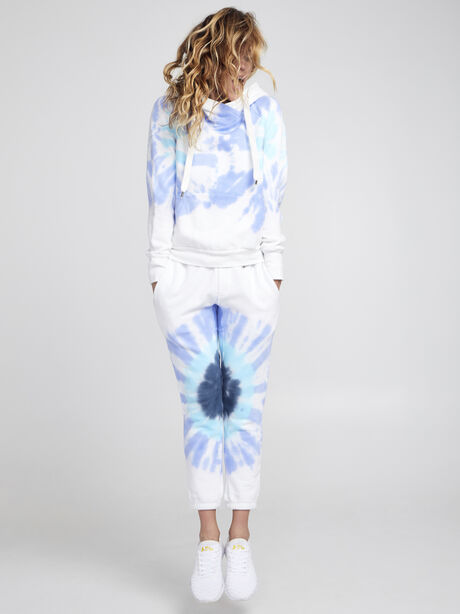 Exclusive Lissie Pullover Hoodie Sweatshirt, Blue Tied, large image number 3