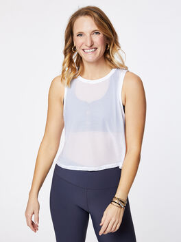 SHEER STRIPE TANK, White, large