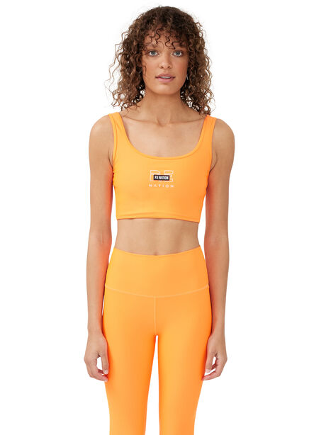 Grand Stand Sports Bra Shocking Orange, Orange, large image number 0
