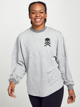Reversible Crewneck Sweatshirt, Los Angeles, large