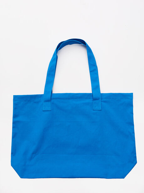 Health Is The Game Tote Bag Blue, Blue, large image number 2