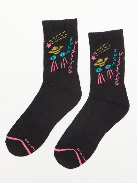 Baby Steps Mid Calf Sock Black, Black, large image number 0