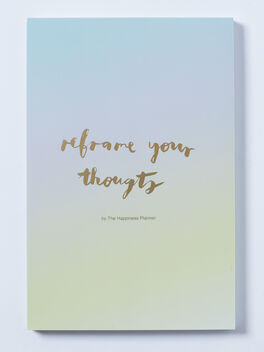 Reframe Your Thoughts Notepad, Blue/Green, large