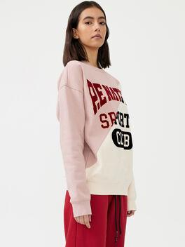 Inning Sweatshirt Misty Rose, White/Pink, large