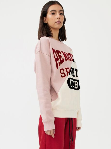 Inning Sweatshirt Misty Rose, White/Pink, large image number 0