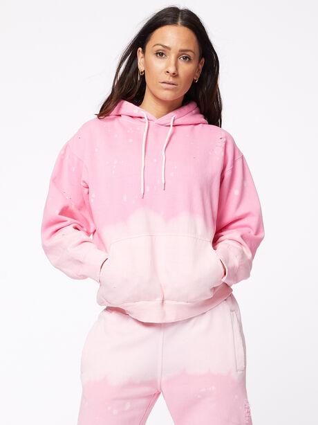 Acid Wash BHH Hoodie Pink, Pink, large image number 1