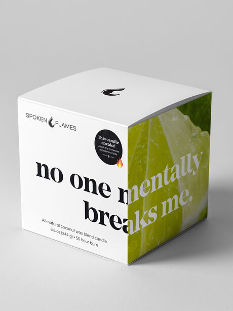 No One Mentally Breaks Me Candle, Clear, large image number 0