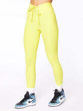 Exclusive Ribbed Football Legging Yellow, Yellow, large