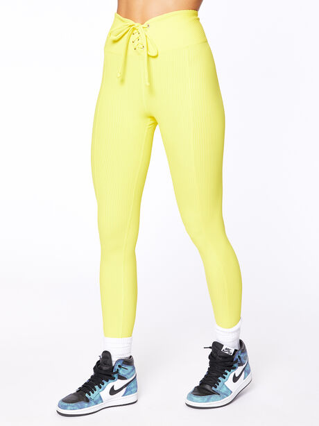 Exclusive Ribbed Football Legging Yellow, Yellow, large image number 0