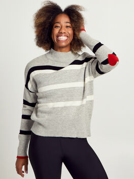 Turtleneck Sweater, Grey, large