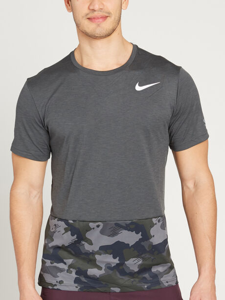Short-Sleeve Hyperdry Camo, Anthracite/White, large image number 0