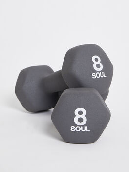 8 lb Weight Set, Grey, large