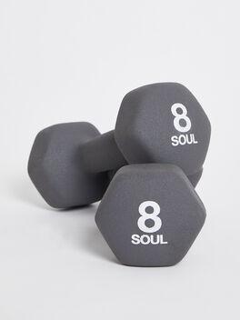 8 lb Weight Set, Grey, large