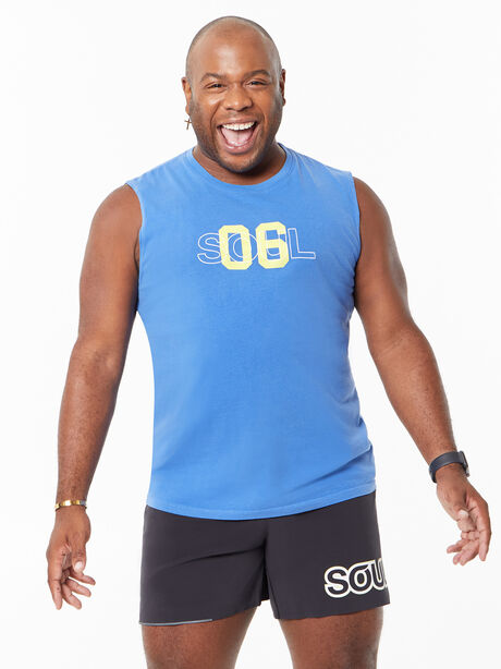 All Souls Muscle Tank Blue, Blue, large image number 2