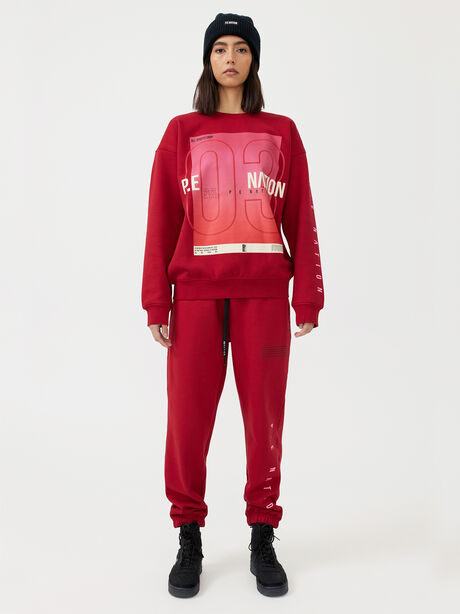Courtside Trackpant Chilli Pepper, Red, large image number 4