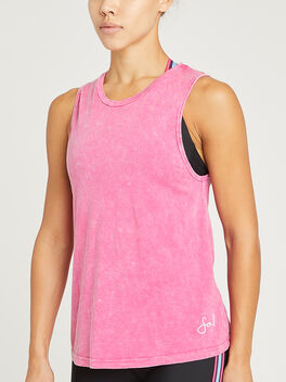 WASHED DRIFTER SOUL TANK, Pink, large