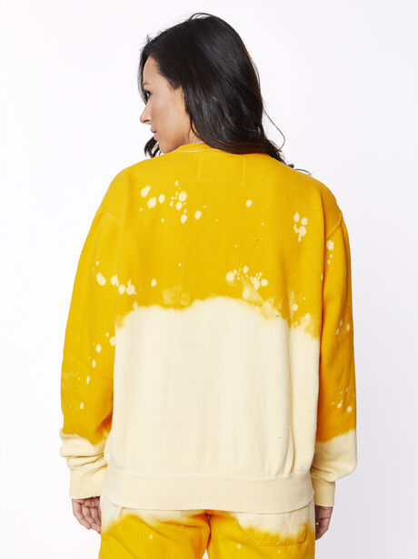 Acid Wash Sunrise Licked It Pullover, Yellow, large image number 2