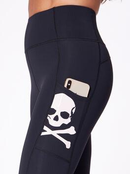 """High-Rise Podium Pocket Legging 25"""", Black/Pink, large"""