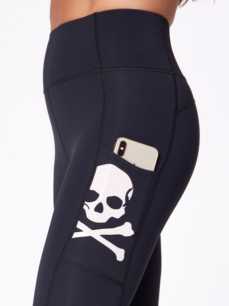 "High-Rise Podium Pocket Legging 25"", Black/Pink, large image number 1"