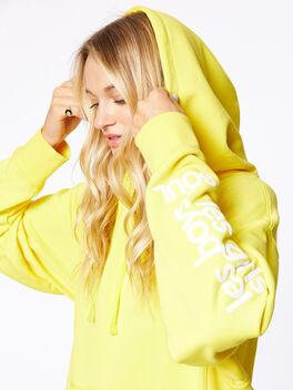 Exclusive Oversized Hoodie Yellow, Yellow, large