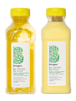 Be Gentle, Be Kind Banana + Coconut Nourishing Superfood Shampoo + Conditioner Duo, Clear, large