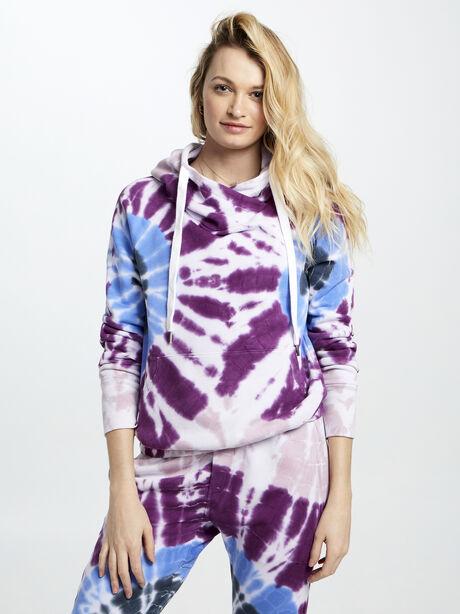 Exclusive Lisse Tie-Dye Hoodie, Pink, large image number 0