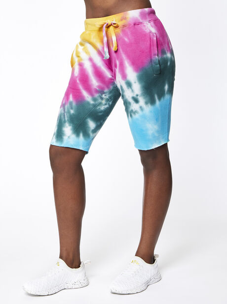 Strawberry Fields Sweat Short, Tie Dye, large image number 0