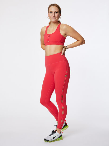 Looped Through High-Rise Podium Legging Teaberry, Hot Pink, large image number 3