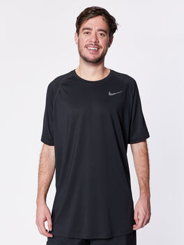 Nike Pro Shortsleeve Shirt, Black/Black/Anthracite/Dark Gr, large